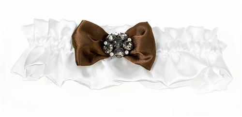 Brown Jeweled Cream Garter