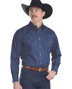 25269f414e Wrangler Men s Authentic Cowboy Cut Denim Work Western Shirts. 105599.jpg.  Other products by Wrangler