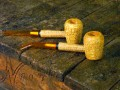 Aristocob Missouri Meerschaum Corn Cob Pipe Tobacco Smoking Legend Pair