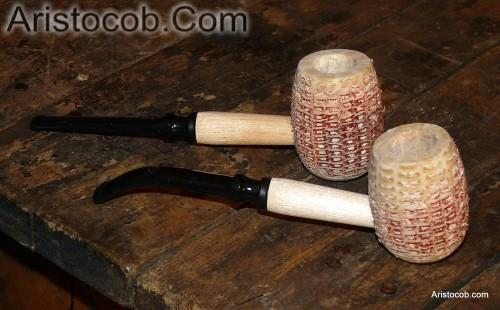 Neked Country Gentleman Natural Unfinished Missouri Meerschaum Corn Cob Pipe from Aristocob