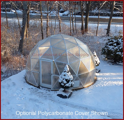 24 Geodesic Greenhouse 450 Square Feet: Greenhouse Geodesic Dome 16 Ft. W/ Poly Cover
