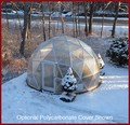 Geodesic Dome Greenhouse 18 Ft. w/ Poly Plastic Cover
