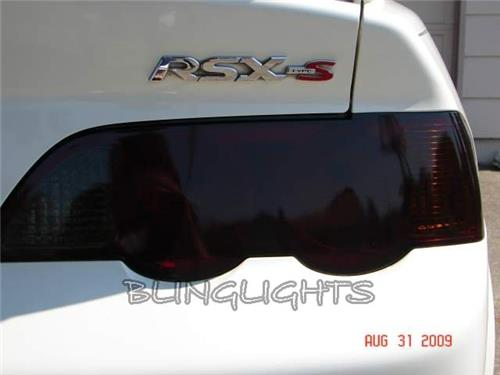 2002-2006 Acura RSX Tinted Tail Lamps Lights Overlay Kit Smoked Protection Film
