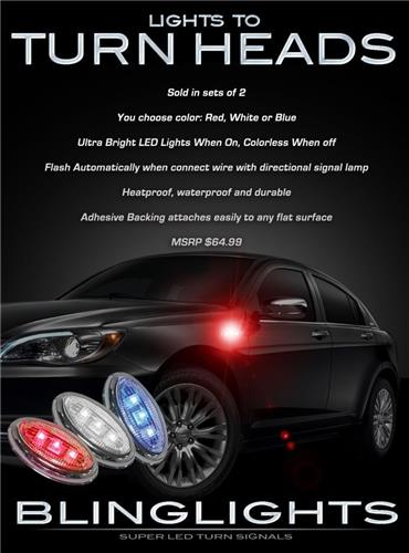 Lancia Flavia LED Flushmount Side Turnsignal Marker Lights Kit Blinker Signaler Lamps