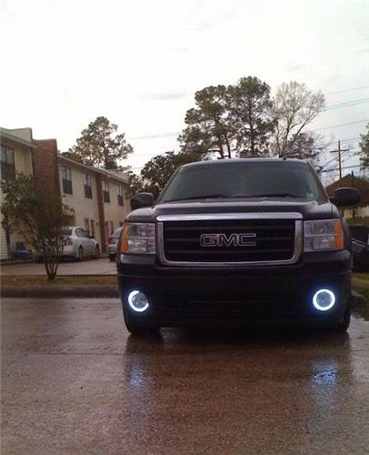 2007-2013 GMC Sierra Angel Eye Fog Lamps Driving Lights 1500 / Denali