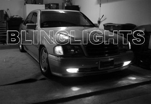 1995 1996 1997 Mercedes-Benz C36 AMG Xenon Fog Lights Driving Lamps Foglamps Lamp Kit C 36 w202