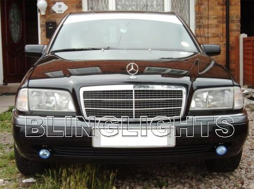 1994 1995 1996 1997 Mercedes-Benz C220 Xenon Fog Lights Driving Lamps Foglamps Lamp Kit C 220 W202