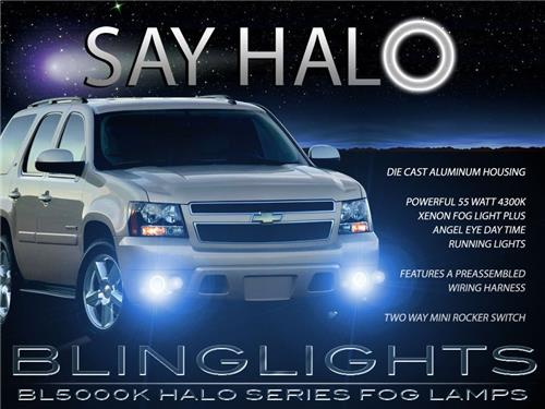 2007-2013 Chevy Avalanche Halo Fog Lamp Driving Light Kit Angel Eyes