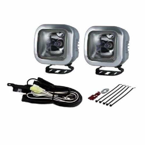 PIAA 410 Intense White 60W Square Driving Light Kit