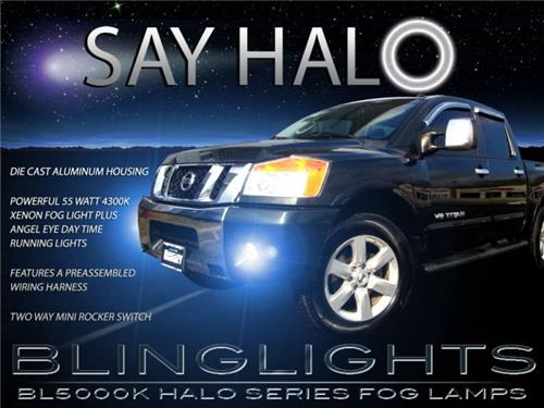 2004-2015 Nissan Titan Halo Fog Lamps Driving Lights Kit