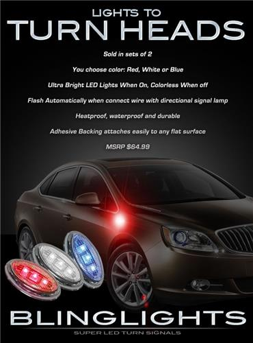 Buick Verano LED Side Markers Turnsignals Lights Turn Signals Light Accents Lamp Signalers