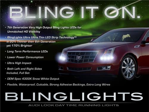 Cadillac CTS LED DRL Head Light Strips Daytime Running Lamps