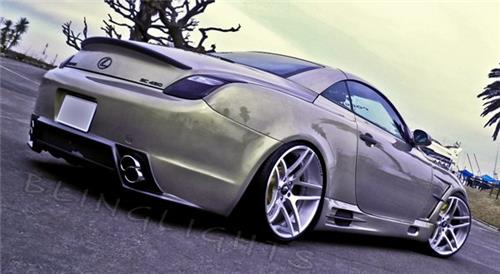 Lexus SC SC300 SC400 SC430 Tinted Smoked Taillamps Taillights Protection Overlays Film