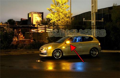 2006 2007 2008 2009 2010 2011 Hyundai Accent LED Side Mirrors Turnsignals Lights Turn Signals Lamps