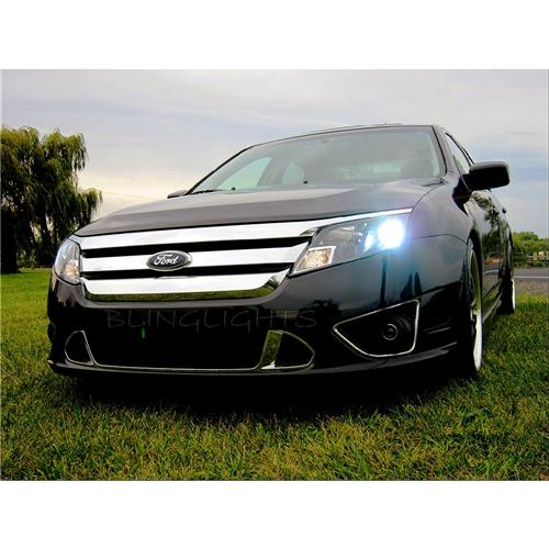2010 2011 2012 Ford Fusion Bright Light Bulbs for Halogen Headlamps Headlights Head Lamps Lights