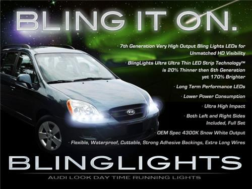 2007 2008 2009 Kia Rondo LED DRLs for Headlamps Headlights Head Lamps Day Time Running Lights
