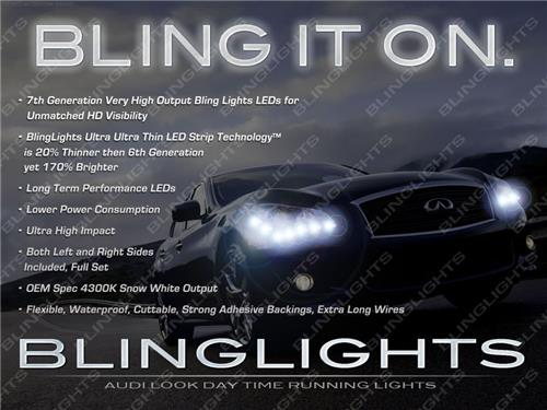 Infiniti M M37 LED DRL Head Light Strips Day Time Running Lamps 2011 2012 2013