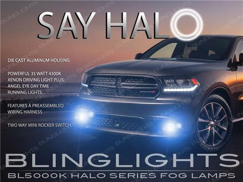 2014-2018 Dodge Durango Non-Halo Fog Lamps Lights Kit