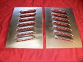 Pair of Angled 4 mini Louvered panels 4