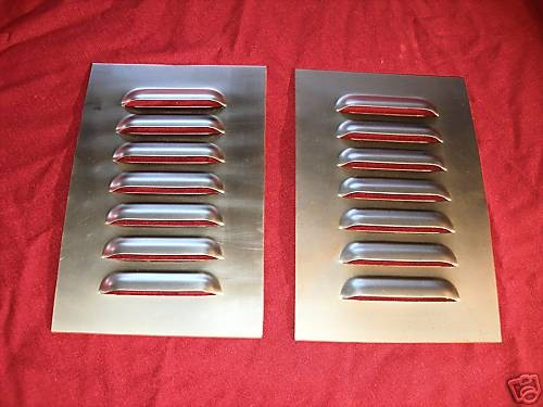 Pair Of Straight 7 Louvered Panels 4 Quot Rod Louvers And