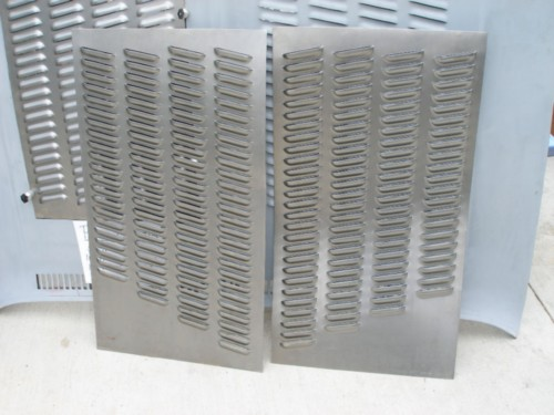 Huge Pair Of Angled Hood Louvered Panels 192 Louvers Rod