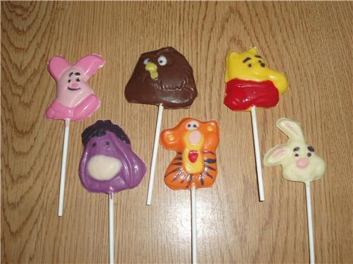Winnie The Pooh And Gang Chocolate Lollipops Party Favors
