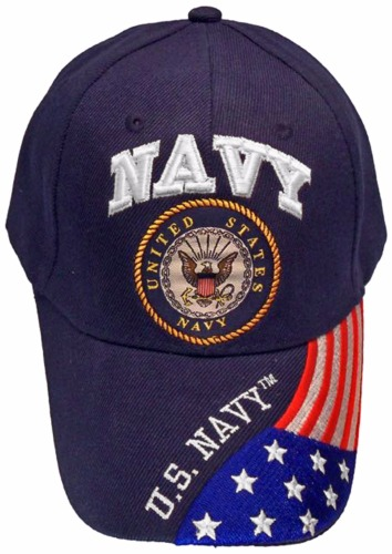 USA NAVY VETERAN BLUE BASEBALL STYLE FLAG EMBROIDERED HAT ball cap vet us  retired - CrazyCoolBuys 8a844463588