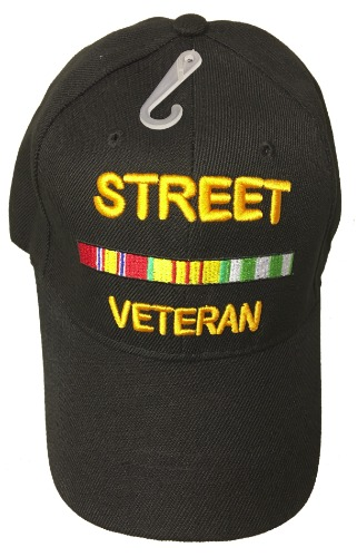 884725137a STREET VETERAN BASEBALL STYLE EMBROIDERED HAT funny novelty ball fun ...