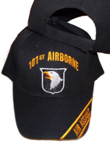 101st AIRBORNE AIR ASSAULT BLACK BASEBALL STYLE EMBROIDERED HAT ball cap  usa. 132.jpeg 540ea039e59