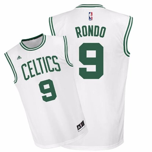 new product 1883b 191d8 Adidas Boston Celtics Rajon Rondo White NBA Basketball Jersey