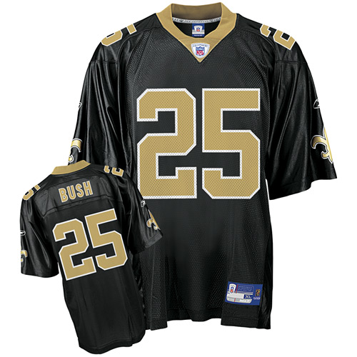 classic fit 21d0b 70338 Reebok New Orleans Saints Reggie Bush Black Premier NFL Jersey