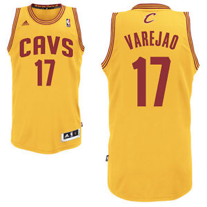 reputable site 2b8d4 6c8aa Adidas Cleveland Cavaliers Anderson Varejao Yellow Swingman NBA Jersey