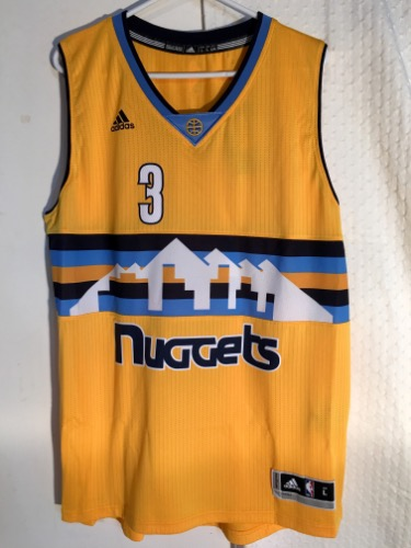 new arrival e4b8b 9fd43 Adidas Denver Nuggets Ty Lawson Yellow Swingman NBA Basketball Jersey