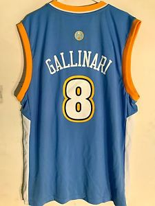 newest fd153 ff192 Adidas Denver Nuggets Danilo Gallinari Light Blue NBA Basketball Jersey