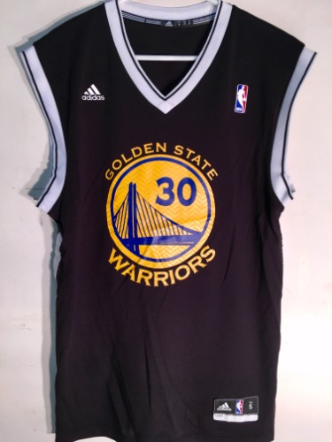 0362d4ccecb Adidas Golden State Warriors Stephen Curry Black NBA Basketball Jersey.  IMG 0536