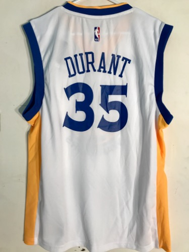 the latest ff248 25085 Adidas Golden State Warriors Kevin Durant White NBA Basketball Jersey
