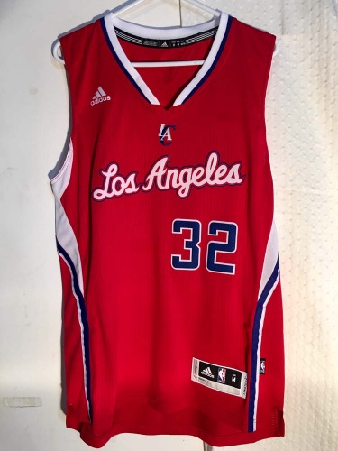 online store 1608f f3aa8 Adidas Los Angeles Clippers Blake Griffin Swingman Red NBA Jersey