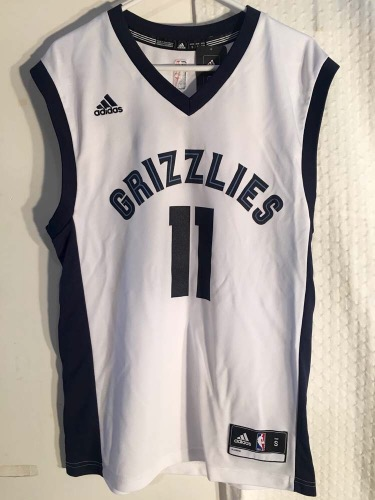 brand new f6dd1 0143a Adidas Memphis Grizzlies Mike Conley White NBA Jersey