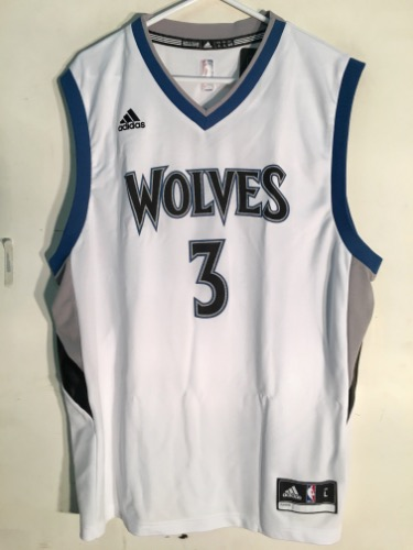 sports shoes 68002 cd730 Adidas Minnesota Timberwolves Kris Dunn White NBA Jersey