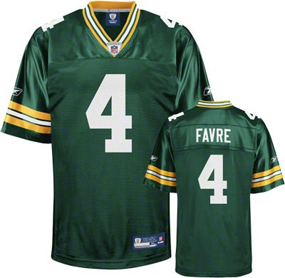 official photos 371e5 9ea9c Reebok Green Bay Packers Brett Favre Green Authentic NFL Jersey