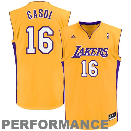 df5c2d601aa ... Gold NBA Basketball Jersey. Pau-Gasol-Los-Angeles-Lakers -Revolution-30-Performance-