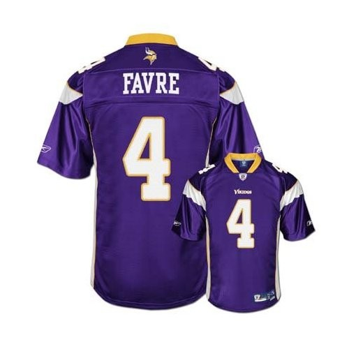 the best attitude 972cd 152c2 Reebok Minnesota Vikings Brett Favre Purple Premier NFL Youth Jersey