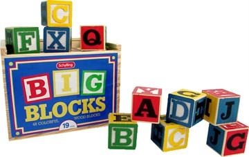 Large Wooden Abc Blocks Childrens Toy Photography Prop