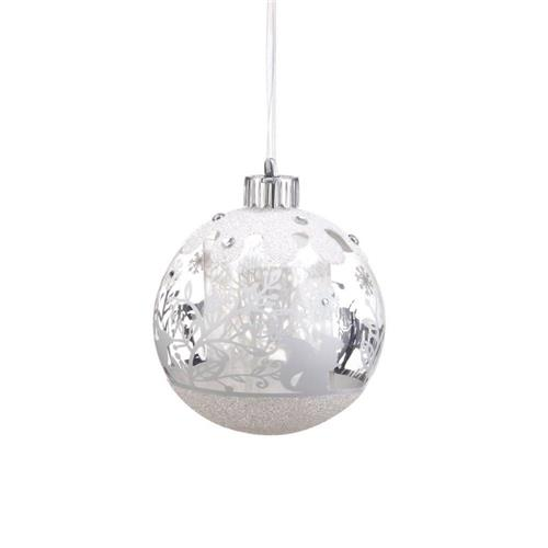 Silvestri Lite Up Battery Operated Lit Forest Scene Ball Ornament 2020150703