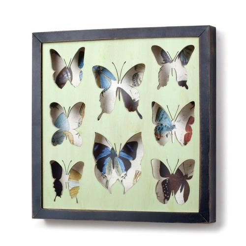 DEMDACO The Nathan Murrell Collection Butterfly Framed Shadow Box ...