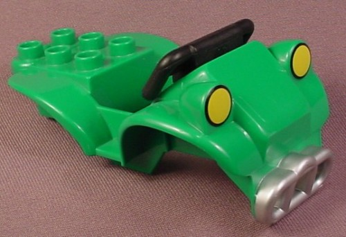 Lego Duplo 54005 Green Vehicle Body With Silver Grill & Yellow Lights Pattern