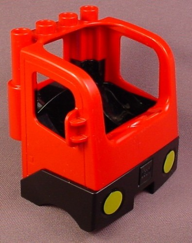 Lego Duplo 47410 Red Semi Truck Vehicle Cab With Hinge, Yellow Head Lights, 4694 4977