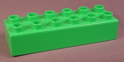 Lego Duplo 2300 Bright Green 2X6 Brick, Zoo