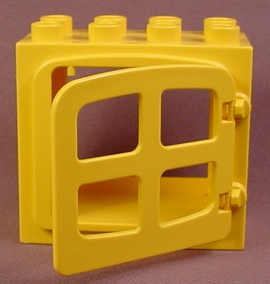 Lego Duplo 2332 Yellow Raised Rim Door Frame 2X4X3 With 4809 Yellow Door