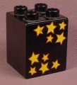 Lego Duplo 31110 Black 2X2X2 Brick With 10 Gold Stars Pattern